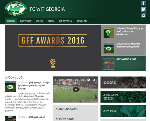 Wit Georgia website screenshot